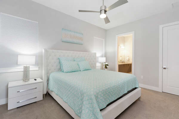 Lavish master suite  with a King sized bed