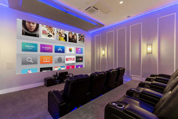 Bring everyone together in the private movie theater