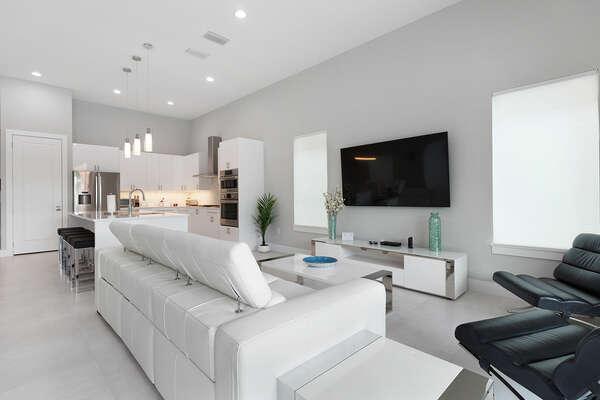 The modern furnishings will catch everyone`s eye