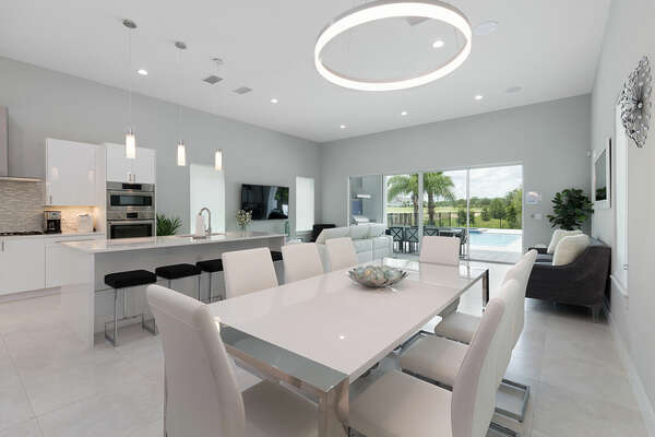The open area concept is perfect to gather the whole family