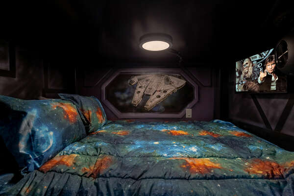 Kids will sleep peacefully in the comfortable bedding