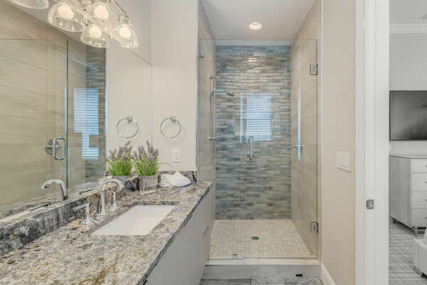 Beautiful ensuite bathroom with walk-in shower
