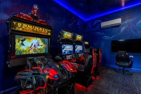 Choose between classic arcade games and modern video game consoles