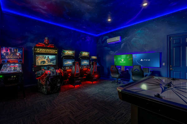 Head to the games room for endless fun for all ages!