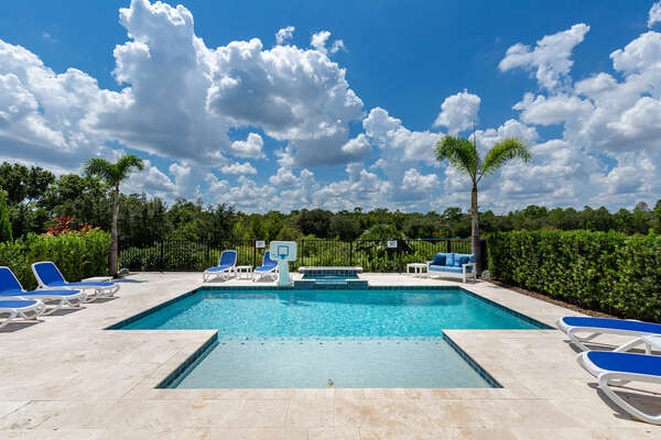 Enjoy your private pool with beautiful views