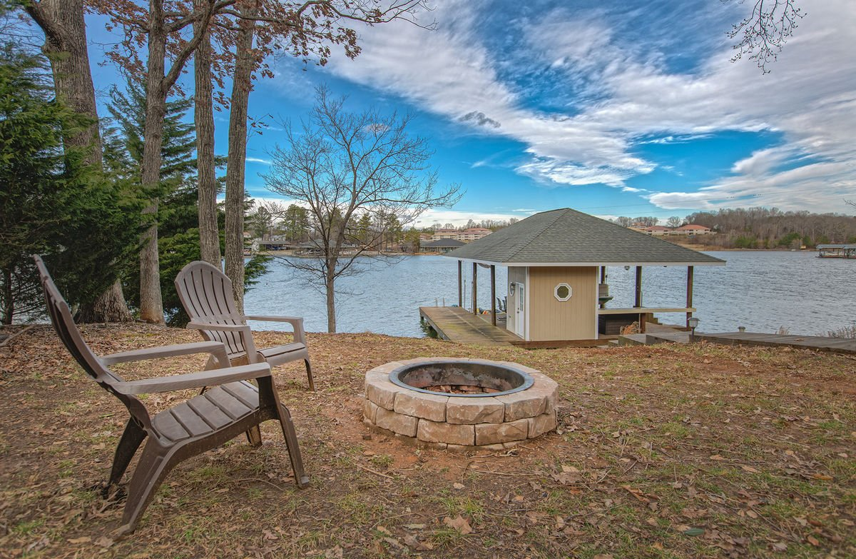Fire Pit Near the Lake at our Smith Mountain Lake Vacation Rental