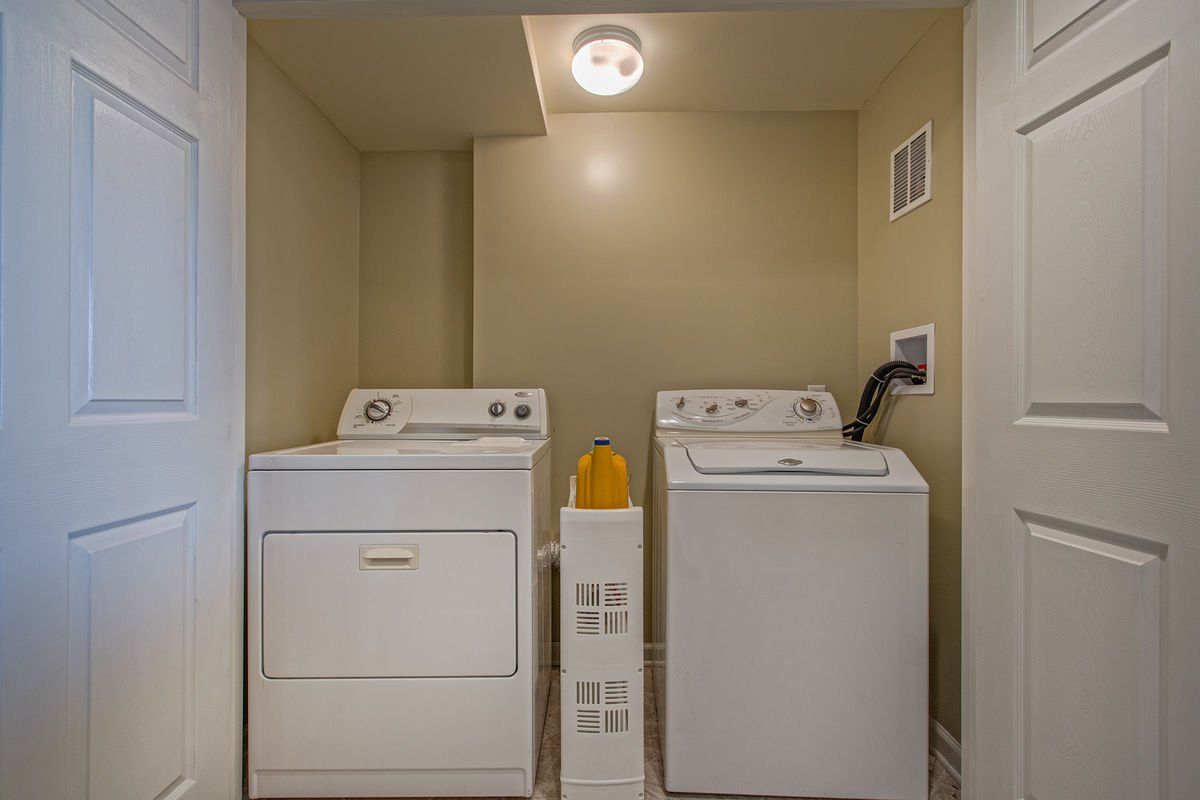 Washer and Dryer Units on the Lower Level