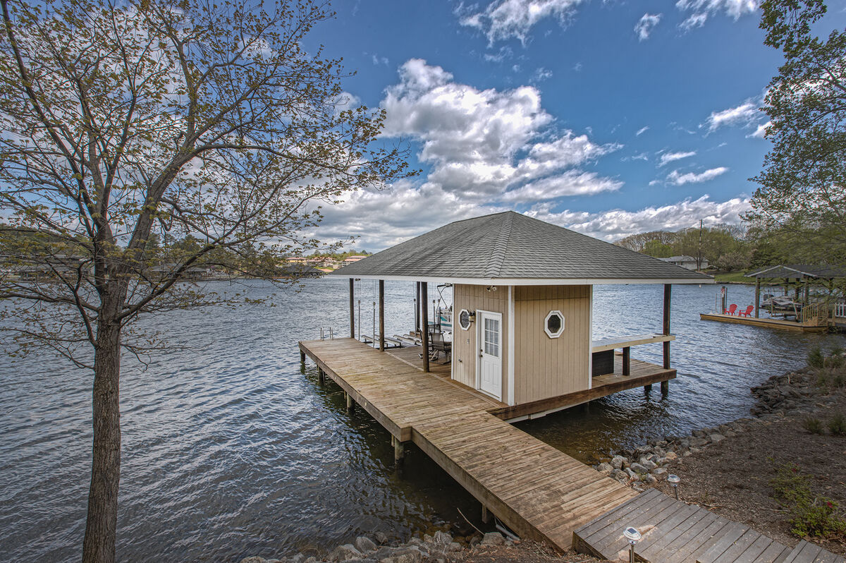 The Private Dock Included with our Lake Escape Rental Home