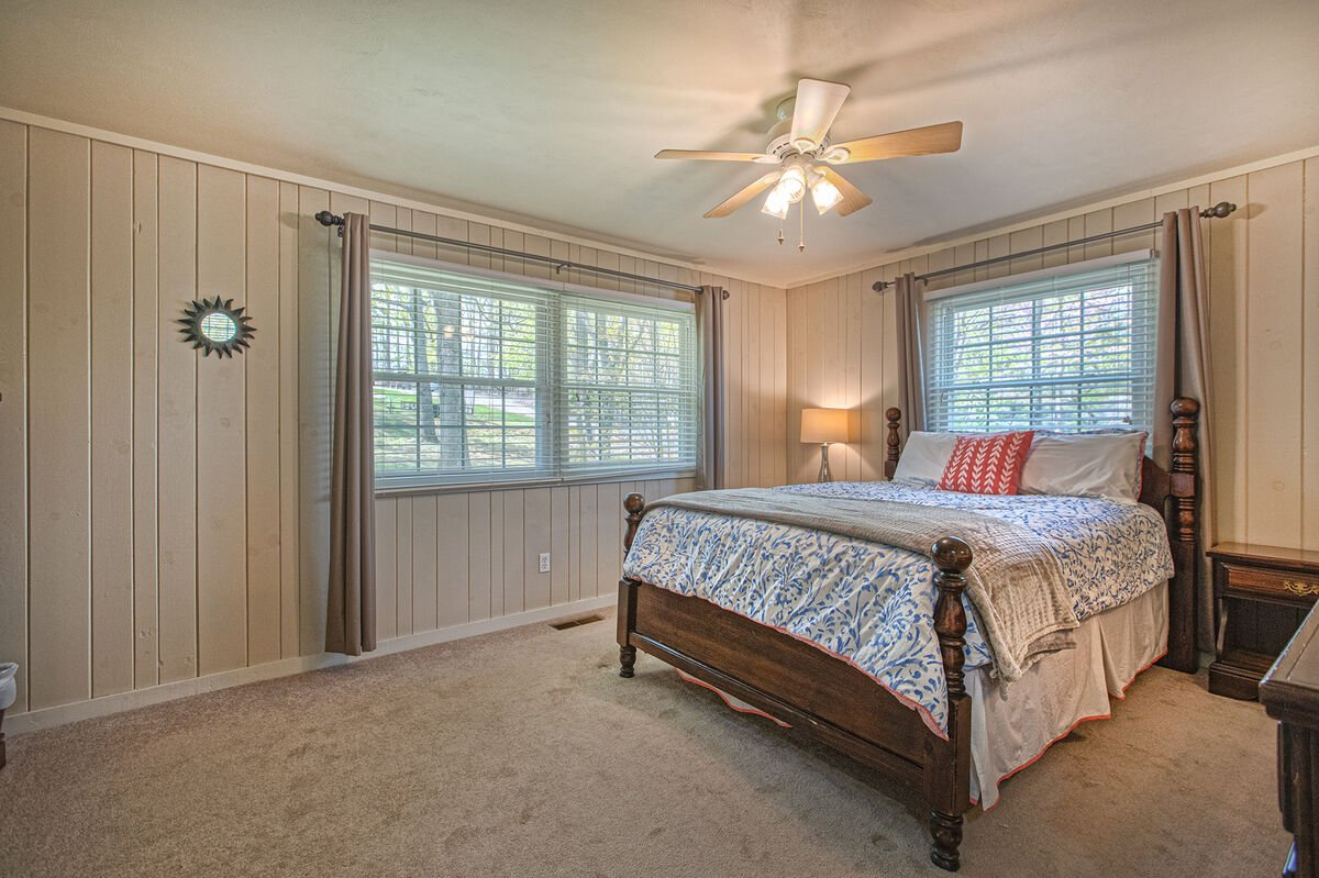 Main Level Bedroom with a Queen Bed