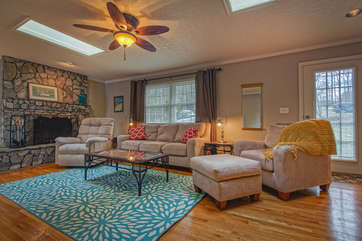 Relax on the Comfortable Furniture in our Smith Mountain Lake Vacation Rental