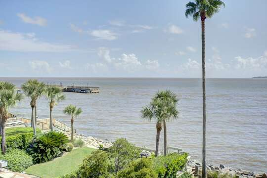 Enjoy Beautiful Views from Waterfront Property.
