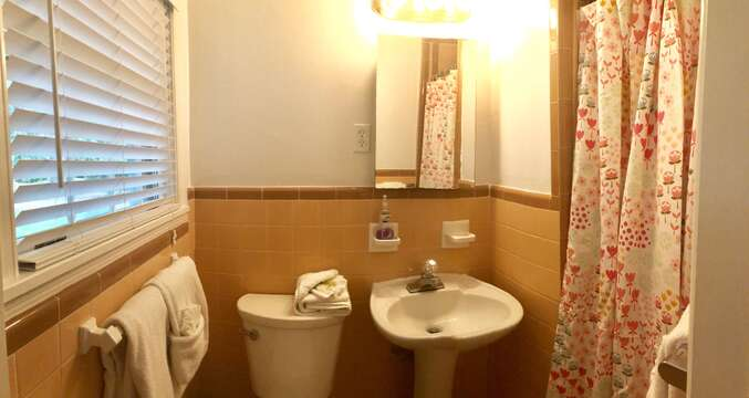 Second Full Bath with Pedestal Sink