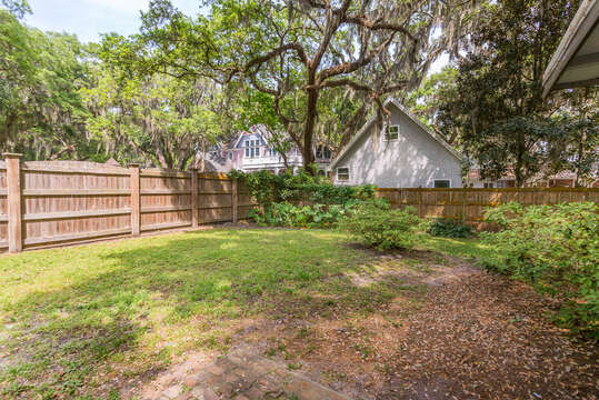 Spacious Backyard in our Vacation Rental in St. Simons Island, GA