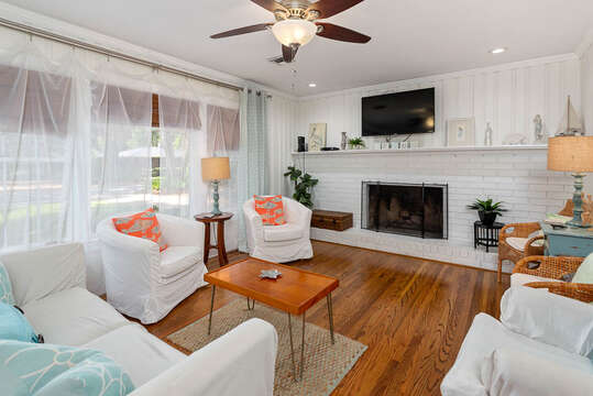 Spacious Living Area in our Vacation Rental in St. Simons Island, GA