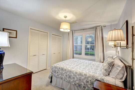Bedroom Features Two Closet Spaces.