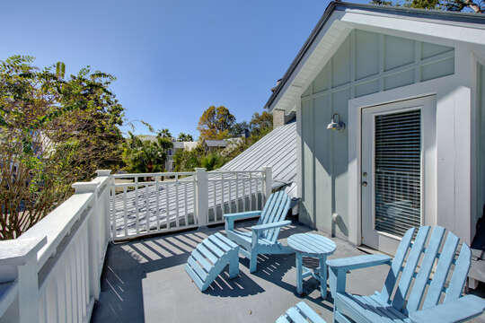 Upper deck at this St Simons Island vacation rental