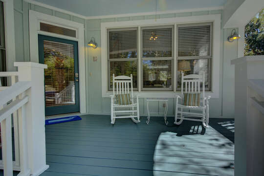 Front patio at this St Simons Island vacation rental