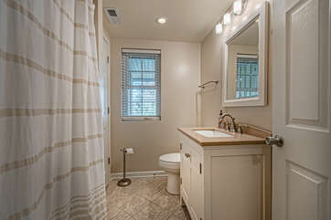 Lower Level Bathroom in our Smith Mountain Lake Vacation Rental