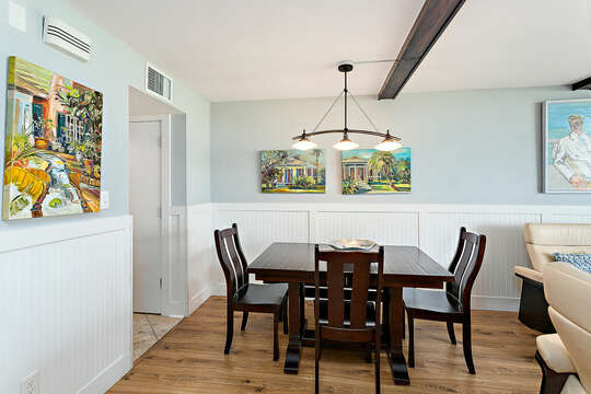 Dining area with seating for five