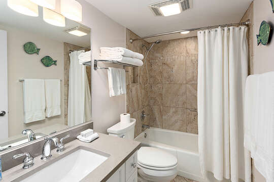 Guest Hall Bathroom with a tub/shower