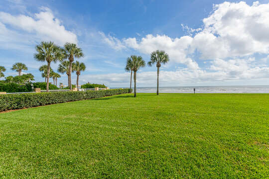 Large ocean front lawn space