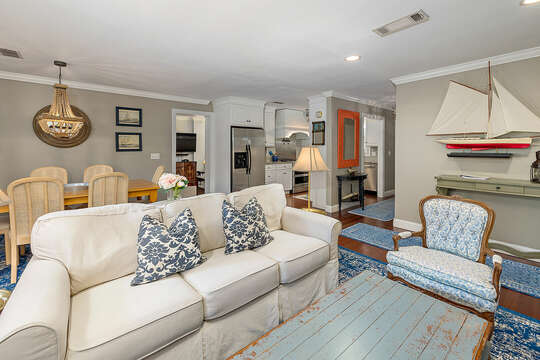 Living Space and Dining Area in Vacation Rental.