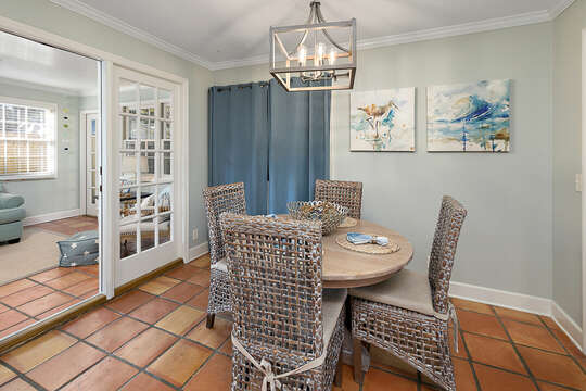 Dining space and back sunroom  / second living room with HD TV