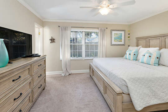 Master Bedroom with King Bed and HD TV