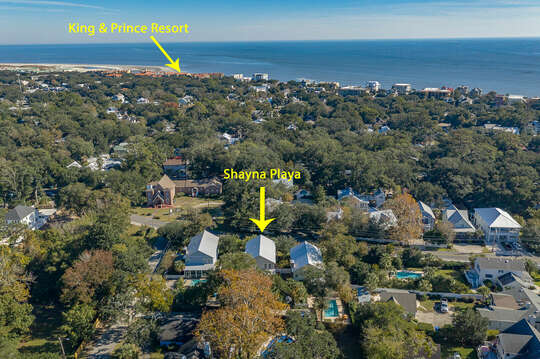 Aerial View and location to beaches
