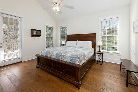 Second floor Master Bedroom with a King Bed