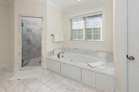 Master Bathroom large soaking tub and shower