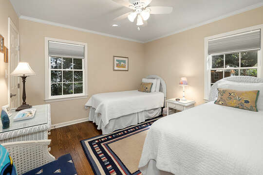 Twin Guest Bedroom with two twin beds