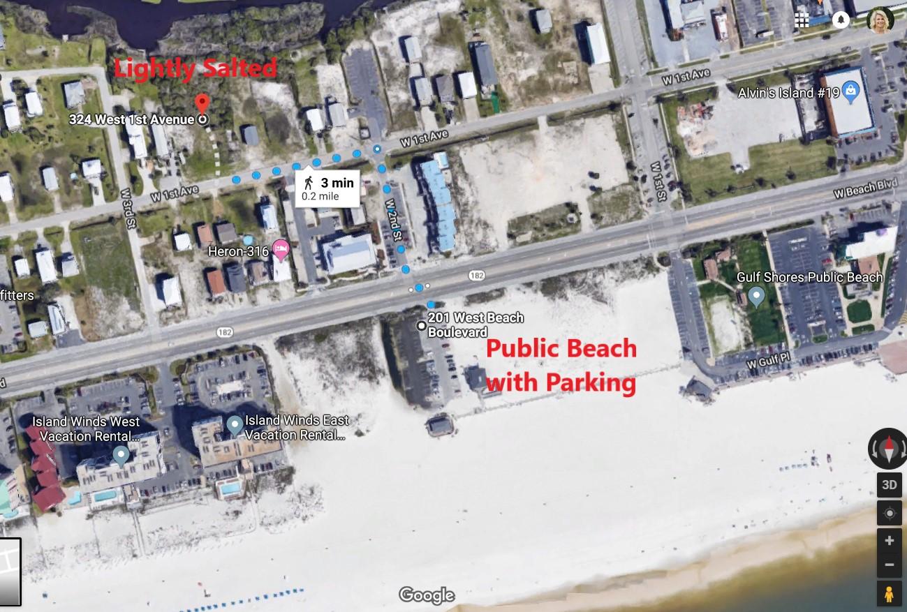 Map of Beach Access