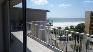The view of the ocean from the unit.