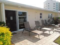 View of the patio area outside the unit.