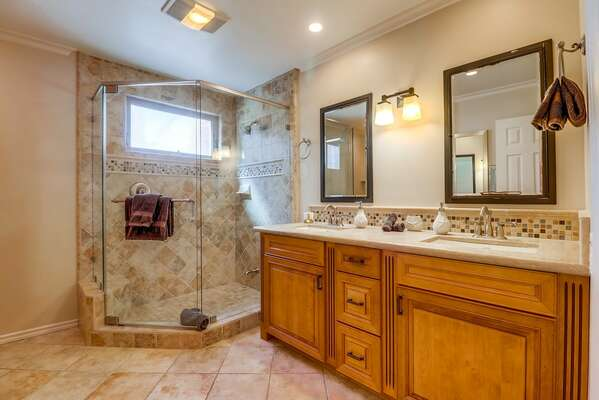 Master Bath with Walk-In Shower and Double Vanity