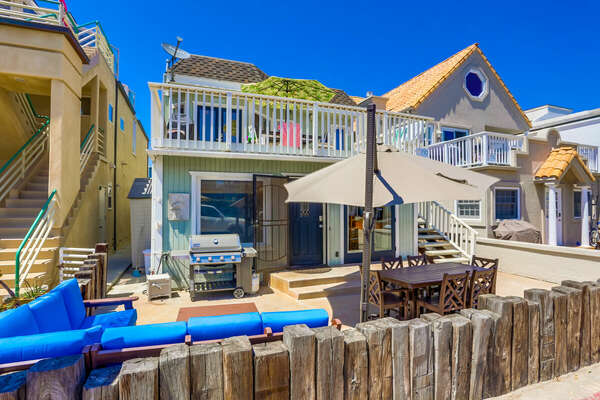 Exterior of this Beach Rental in San Diego