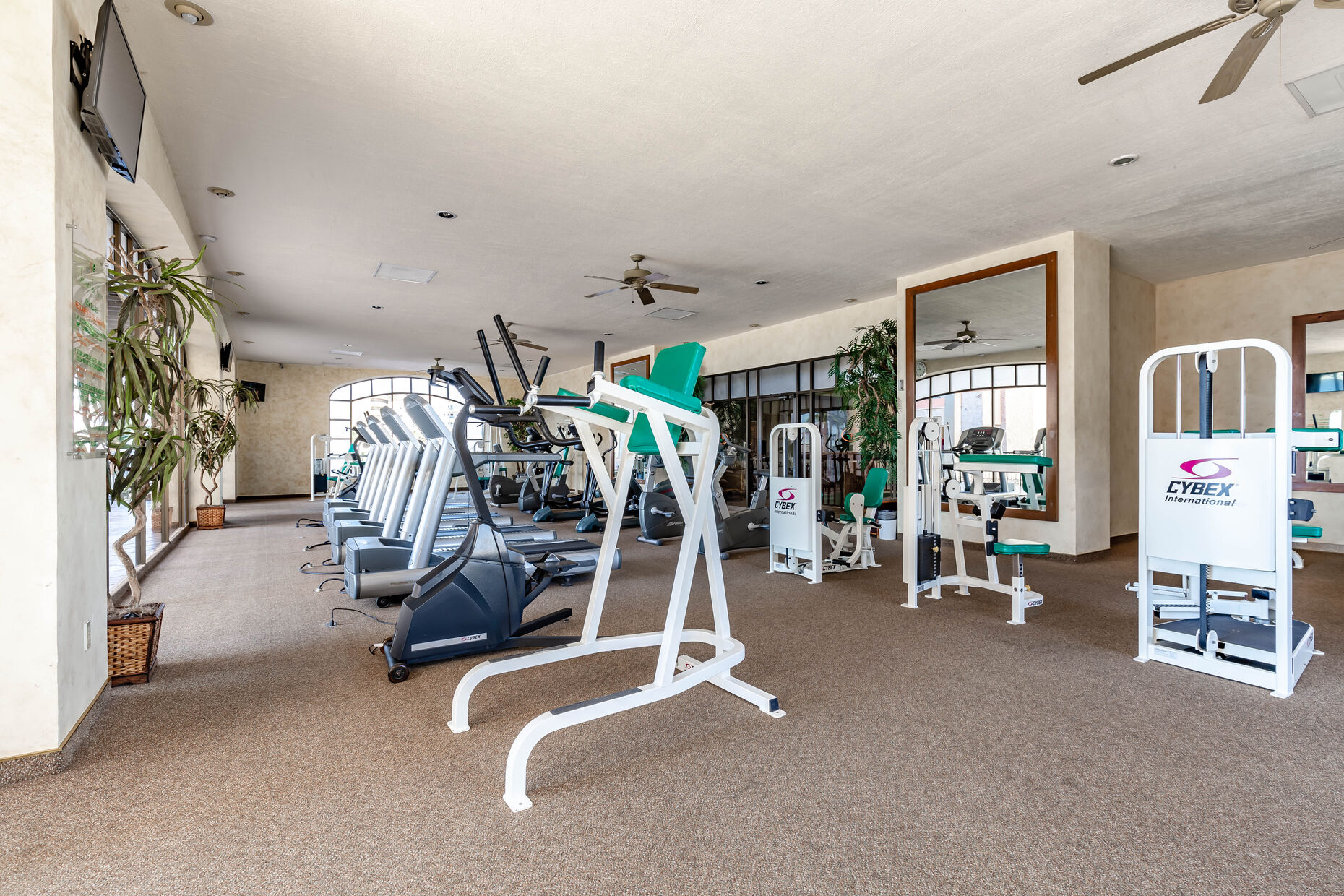Gym located on the 2nd floor