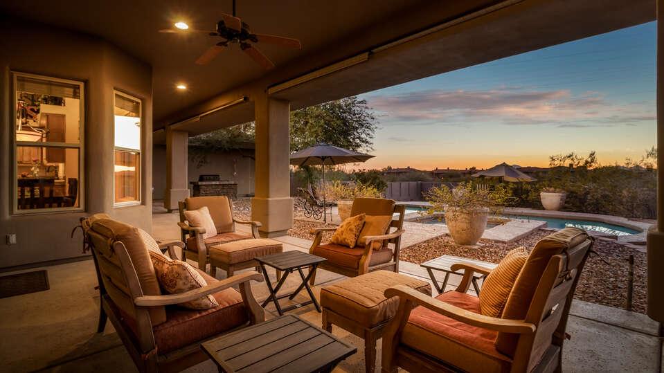 Backyard patio of a Scottsdale Arizona Vacation Rental