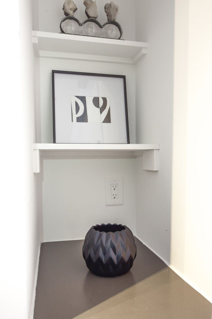 Small Nook with Shelves and Accents