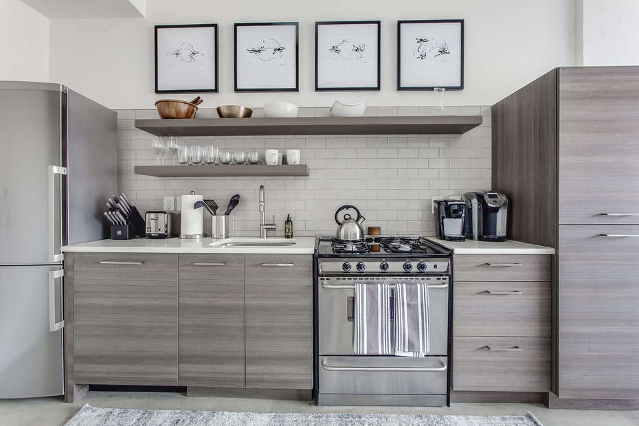 Fully Stocked Kitchen in Ponce City Market Apartment