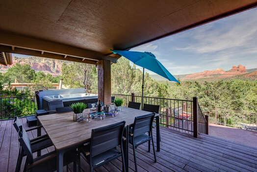Large Deck with Outdoor Dining, a Private Hot Tub and Breathtaking Views