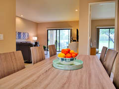 Dining room view to guest room