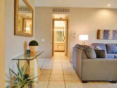 Great room looking onto master bedroom