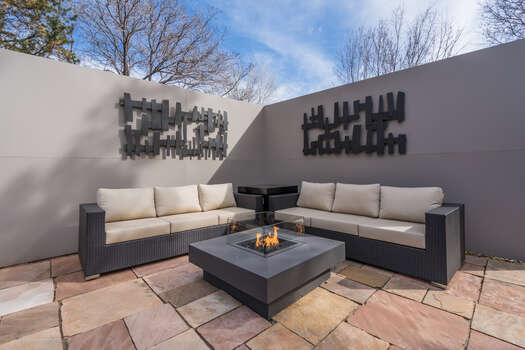 Fire Pit Table and Comfortable Patio Furniture