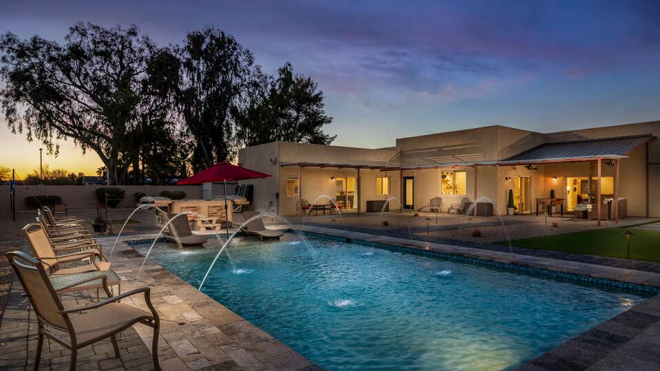 Beautiful Pool Offers Plenty of Space to Swim Laps.