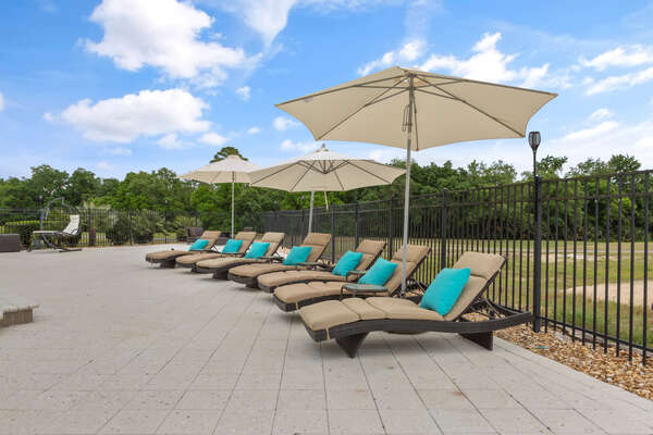 Soak in the sun on one of the many sun loungers