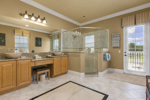 Large ensuite with a walk-in shower