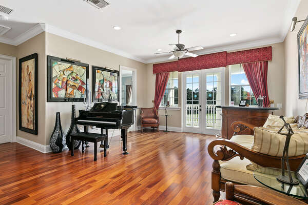 Play the piano while enjoying the view