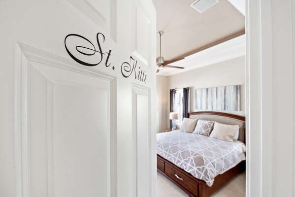 Master bedroom located on the ground floor,